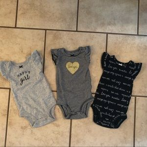 Carter's 3 Month Set of 3 Onsies Baby Girl